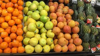 カラフル,オレンジ,フルーツ,パイナップル,グレープフルーツ,新鮮,香り,整然