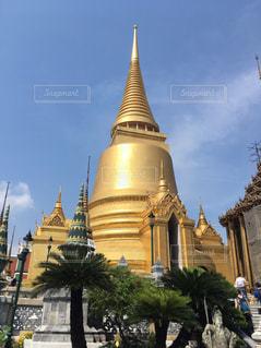 空,雲,旅行,タイ,寺院,金色,黄金,ワットプラケオ