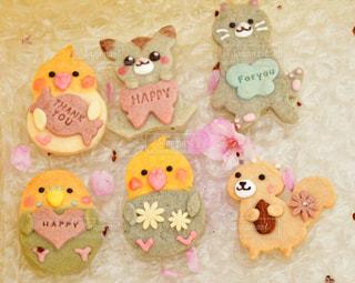 動物,花見,花びら,美味しそう,クッキー