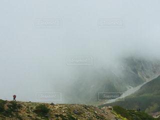 自然,風景,白,旅行,ガス,危険,高原,ホワイト,火山,登山道,尾根