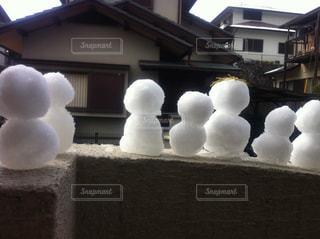 冬,雪,白,アート,雪だるま,像,集合