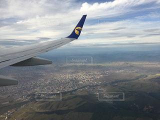 自然,空,屋外,飛行機,景色,モンゴル,飛行場