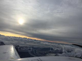 空,太陽,朝日,光,アラスカ,マッキンリー,デナリ国立公園