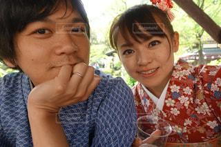 着物の夫婦のアップの写真・画像素材[1606767]