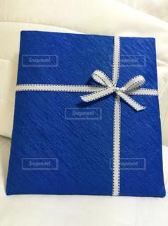青,プレゼント,リボン,贈り物,渋い,ブルー,大人,手作り,和紙,真心,ラッピング,包装,男性へ,落ち着いている