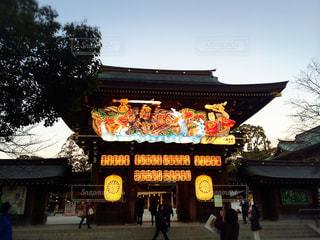 神社,夕暮れ,門,参拝,神奈川県,神社仏閣,寒川神社,お詣り,寒川町,八方除け