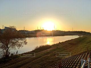 空,夕焼け,夕暮れ,横浜市,神奈川県,鶴見川,綱島,散歩コース