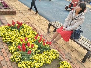お花見散歩の写真・画像素材[2063237]