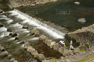 子ども,自然,川,涼しい,レジャー,川遊び