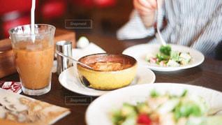 写真,昼食,ご飯,オニオングラタンスープ,私とご飯