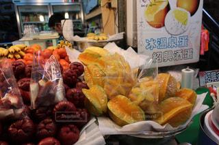 食べ物,デザート,フルーツ,果物,市場,台湾,新鮮,スターフルーツ,カットフルーツ