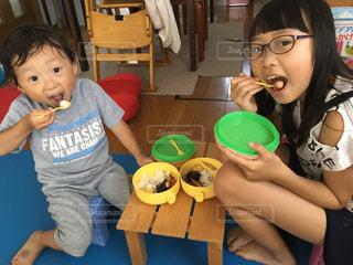 屋内,子供,テーブル,ピクニック,熱中症