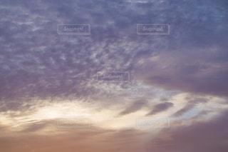 空,秋,雲,夕焼け,オレンジ