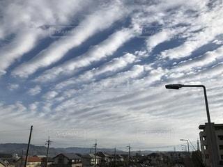 風景,空,山,街灯,遠景,京都府,白い雲,精華町,白い天空の世界,白の重なり