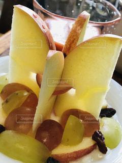 食べ物,朝食,デザート,果物,りんご,ブドウ,ヨーグルト,立体,スライス