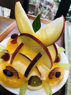 食べ物,朝食,デザート,果物,皿,りんご,ブドウ,ヨーグルト,バナナ,スライス,スィートスプリング,立体化手づくり