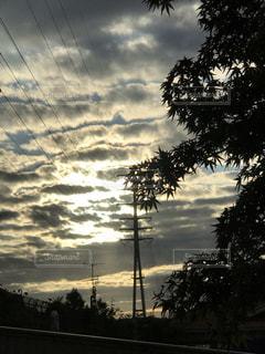 夕映えの雲の写真・画像素材[2473309]