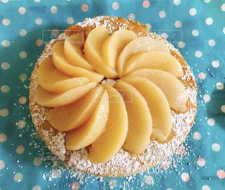 食べ物,ケーキ,デザート,果物,美味しい,桃,食材,フレッシュ,粉砂糖,甘さ控え目