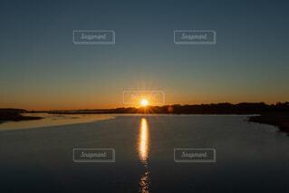 風景,空,屋外,朝日,水面,正月,お正月,日の出,早朝,新年,初日の出,沼
