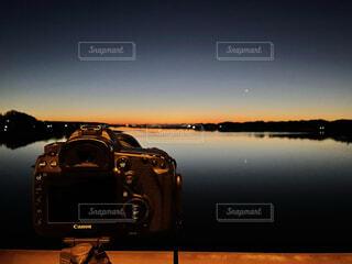 カメラ,朝日,水面,正月,お正月,日の出,新年,初日の出,沼