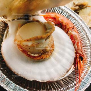 食べ物,海老,帆立,海鮮BBQ