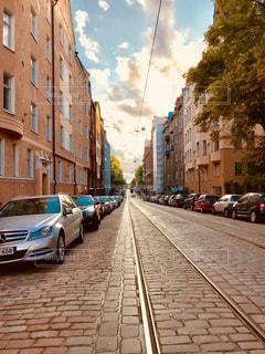 ヘルシンキの夕日の写真・画像素材[1426487]