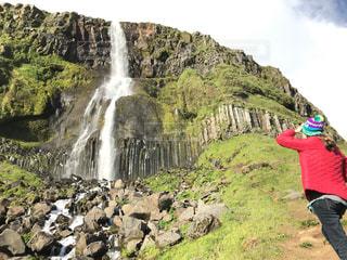 アイスランドの滝の写真・画像素材[1449368]