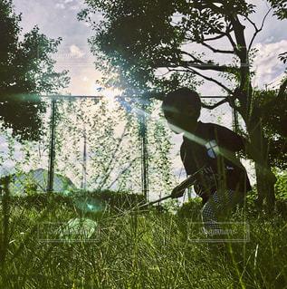 秋,散歩,子供,虫,路地,昆虫,休み,地元,夏の終わり,秋空,景観,草むら,お出かけ,虫捕り,虫捕り網