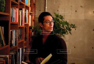 書斎にての写真・画像素材[1385828]