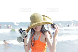 海辺の笑顔の写真・画像素材[1391943]