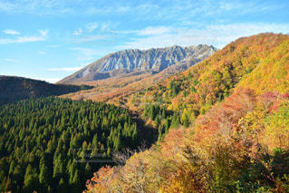秋空に映える大山の写真・画像素材[1501477]