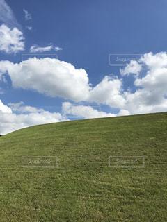 空,緑,白,雲,晴れ,青,みどり,天気,爽快,秋空