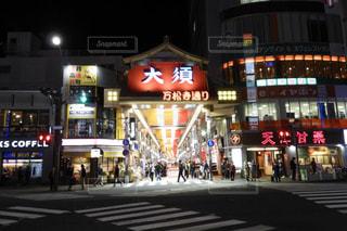 夜の大須商店街通りの写真・画像素材[2732578]