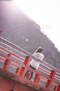 女性,冬,橋,雪,神社,白,田舎,群馬,恋,ホワイト,被写体,赤城山,彼女,永遠,始まり,粉雪,黄昏る,平成最後の冬