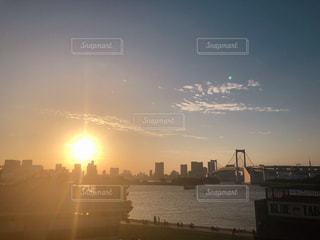 秋,夕日,東京,秋空