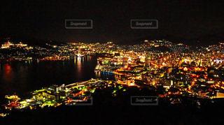 夜の街の景色の写真・画像素材[851308]