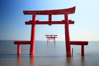 水の体の横に木製の桟橋の写真・画像素材[920873]