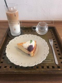 食べ物,秋,デザート,おやつ,カフェラテ,チーズケーキ,ぶどう,巨峰,食欲の秋