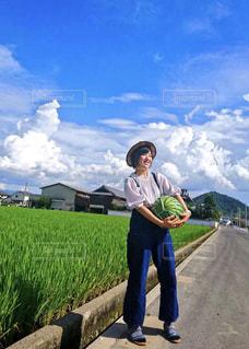 スイカ農家風🍉の写真・画像素材[1390862]