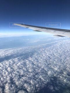 空,雲,飛行機,上空,秋空,いわし雲,インスタ映え
