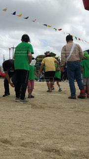 緑,親子,運動会,二人三脚