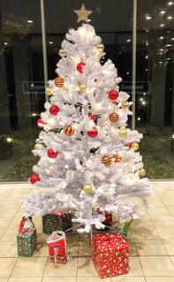 屋内,木,赤,白,星,クリスマス,ツリー,デコ,ホワイト,飾り