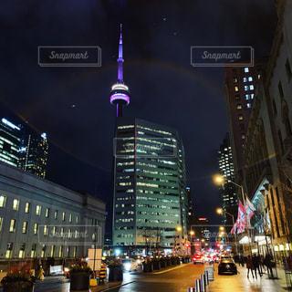 夜の街の景色の写真・画像素材[1707971]