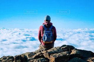 山頂の景色の写真・画像素材[1407669]