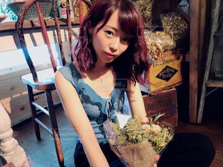 花とわたしの写真・画像素材[1402227]