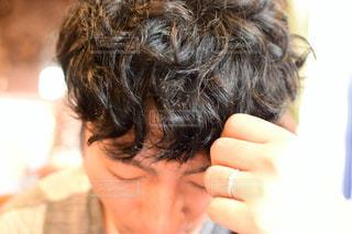 黒髪パーマの写真・画像素材[1491257]