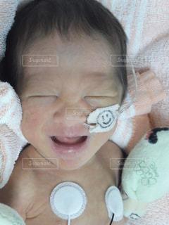 笑顔をみせてくれた息子の写真・画像素材[1404897]