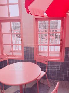 プールみたいなピンクのカフェ♡の写真・画像素材[1482779]