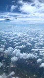 空,飛行機,うろこ雲,秋空,秋の空,窓から