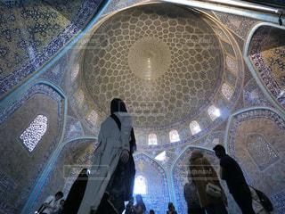 女性,建物,青,後ろ姿,女,人物,背中,人,ドーム,モスク,海外旅行,異国